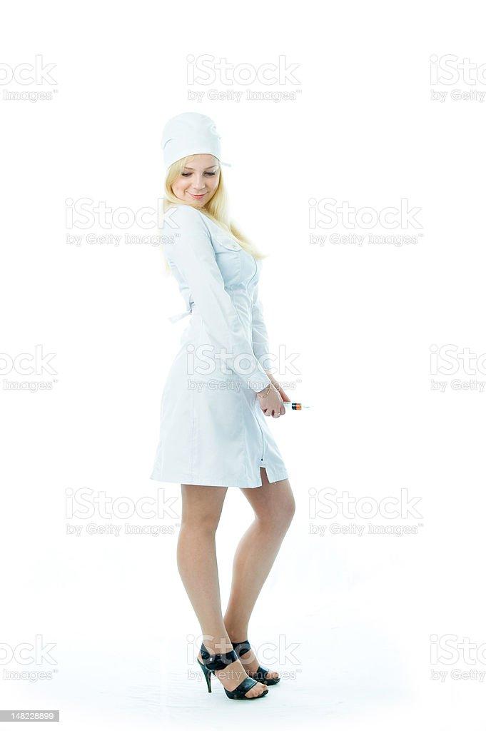 Modesty nurses royalty-free stock photo
