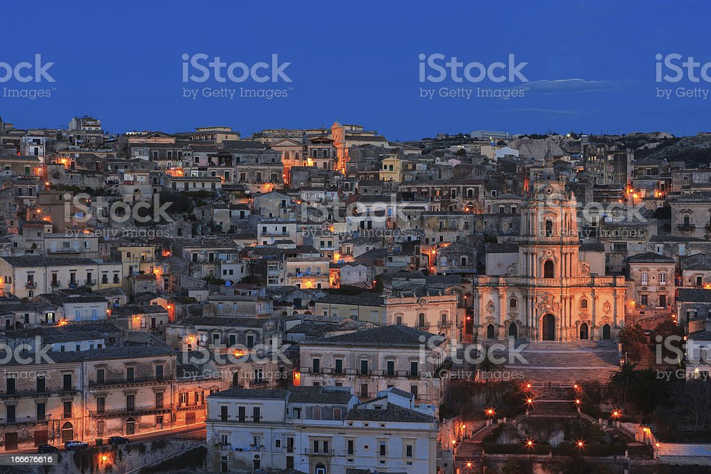 modica by night royalty-free stock photo