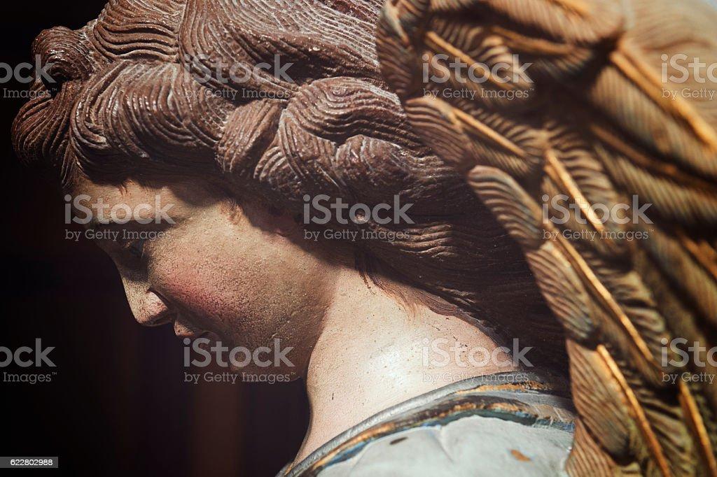 Modica, Sicilia. Angelo nel Duomo di San Pietro. stock photo