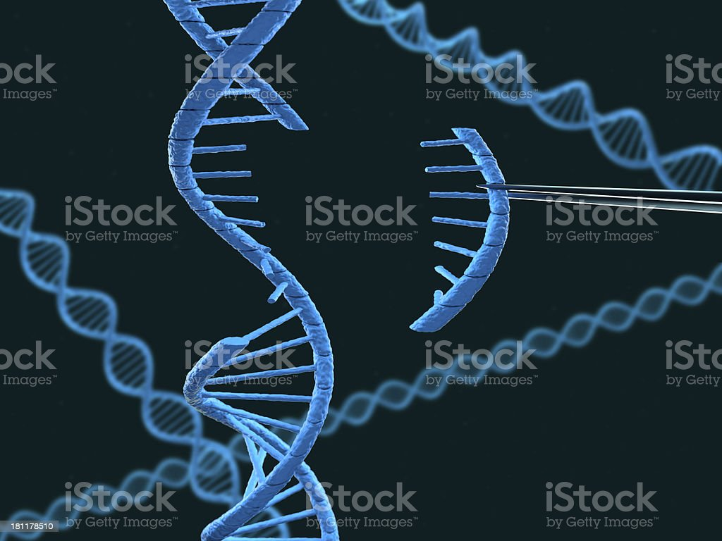 DNA modification royalty-free stock photo