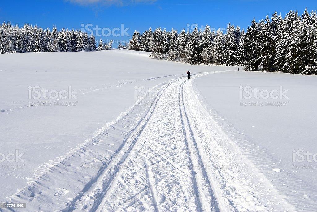 Modifié crosscountry ski trajet photo libre de droits
