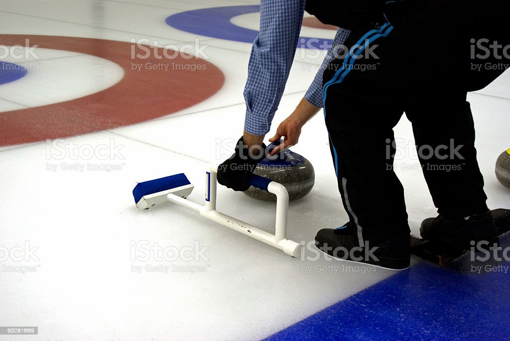 Modified Curling Broom stock photo