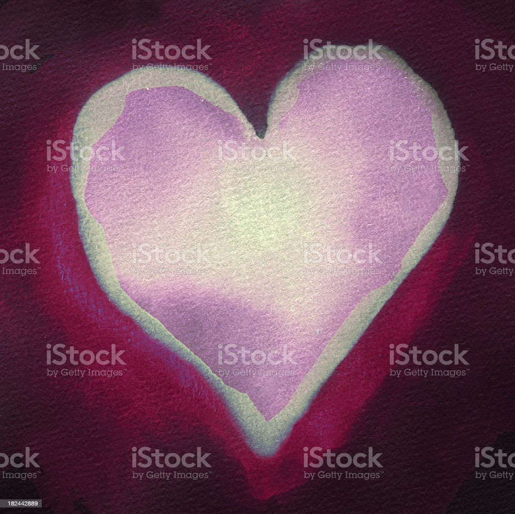 Modified painted heart royalty-free stock photo