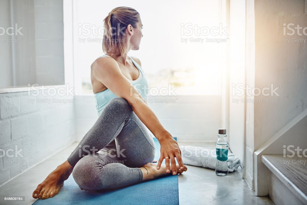 Modify each pose to feel comfortable in your own body stock photo