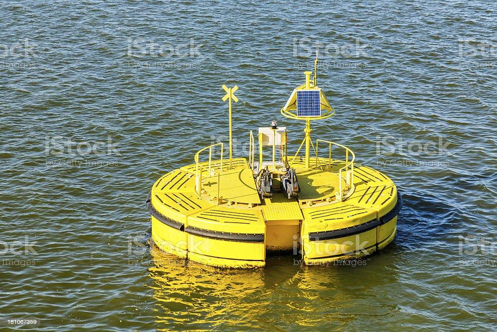 Modular mooring buoy royalty-free stock photo