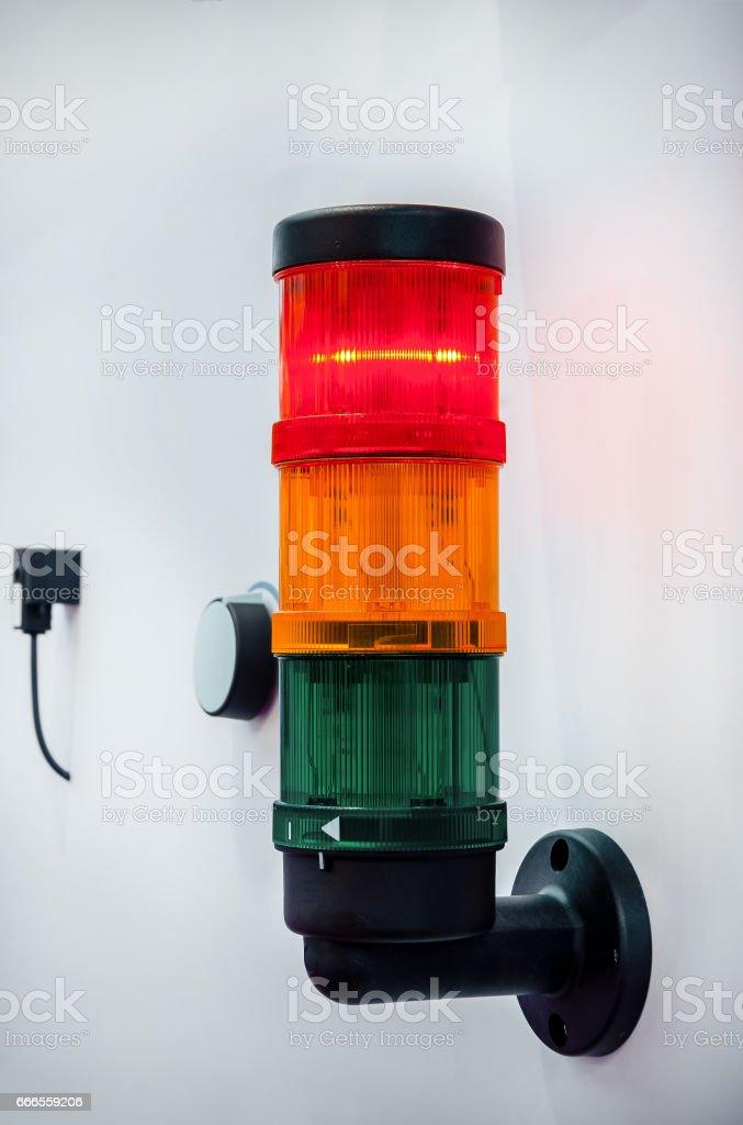 Modular signal towers stock photo