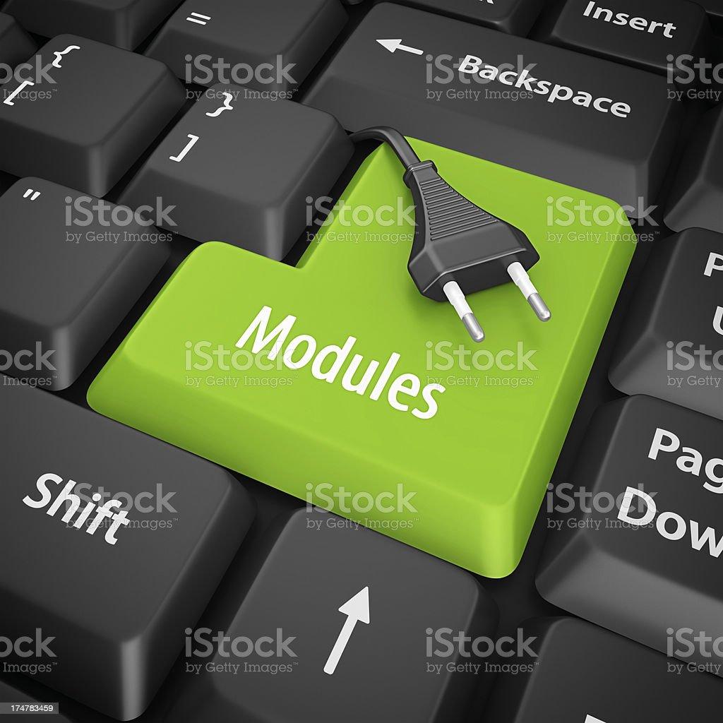 modules enter key stock photo