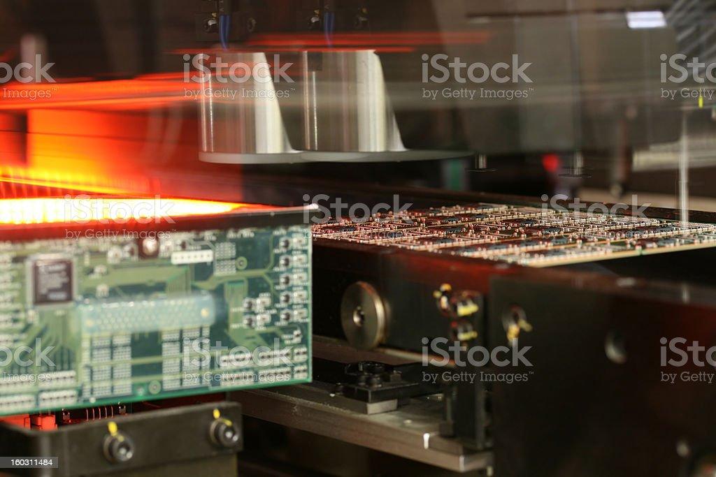 RAM modules production stock photo