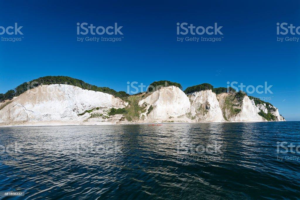 Moens Klint Cliffs Denmark stock photo
