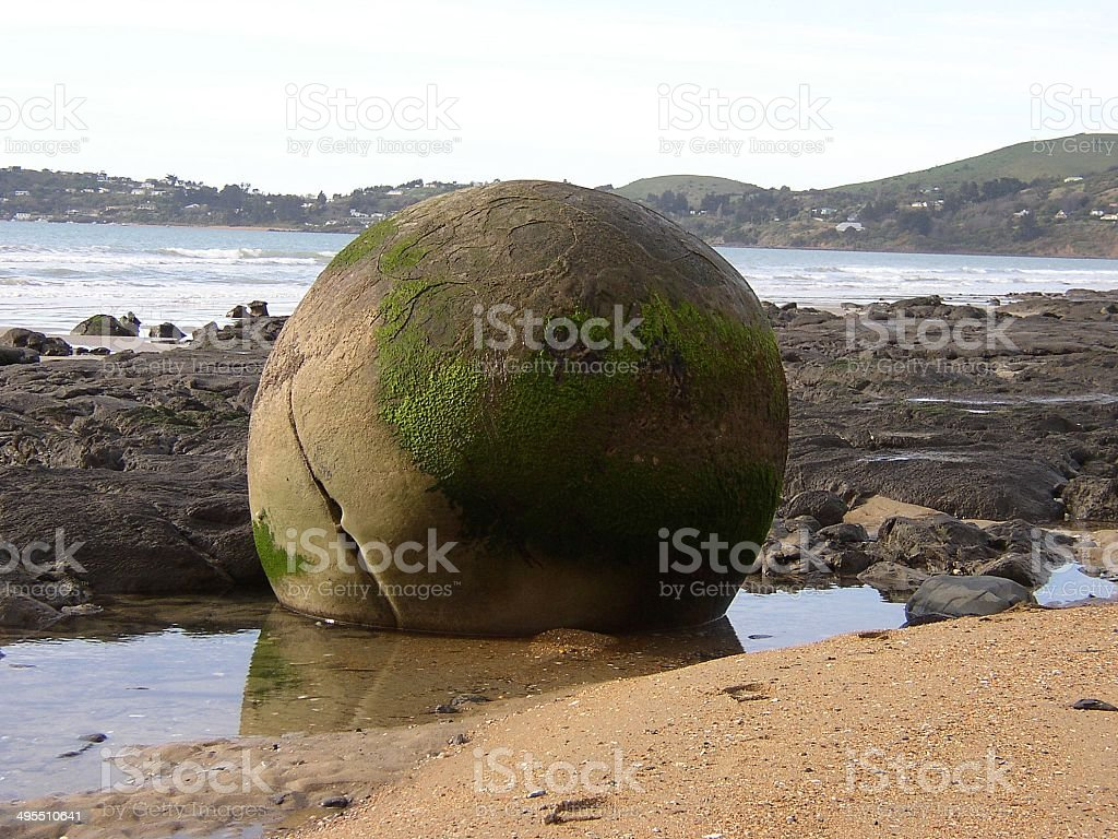 Moeraki Boulder stock photo