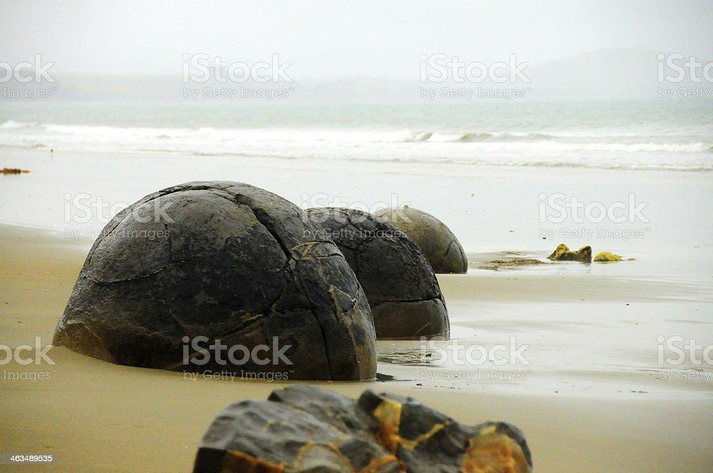 Moeraki boulders foto royalty-free