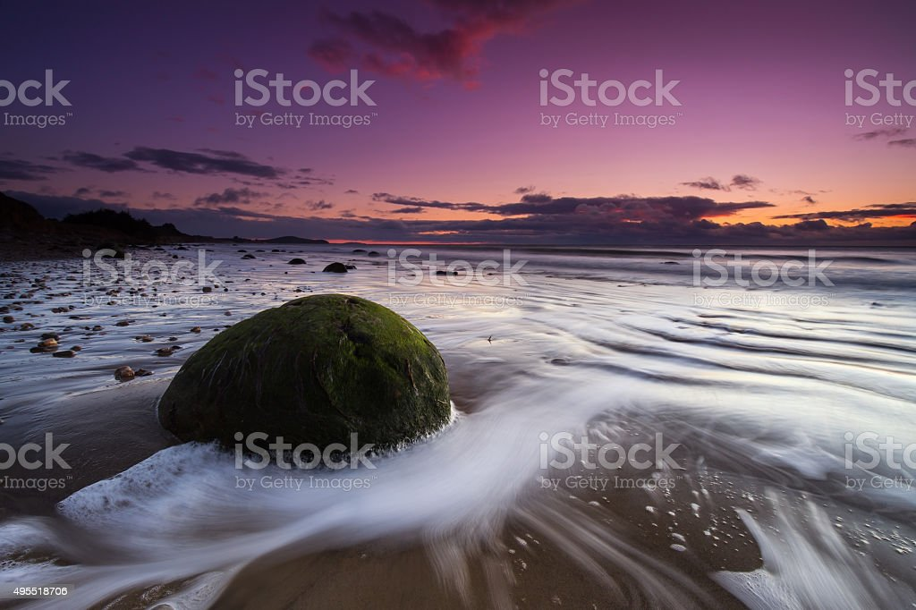 Moeraki Boulders Sunrise #2 stock photo