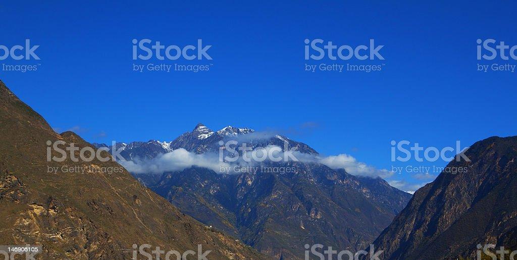 Moerduo Sacred Mountain stock photo
