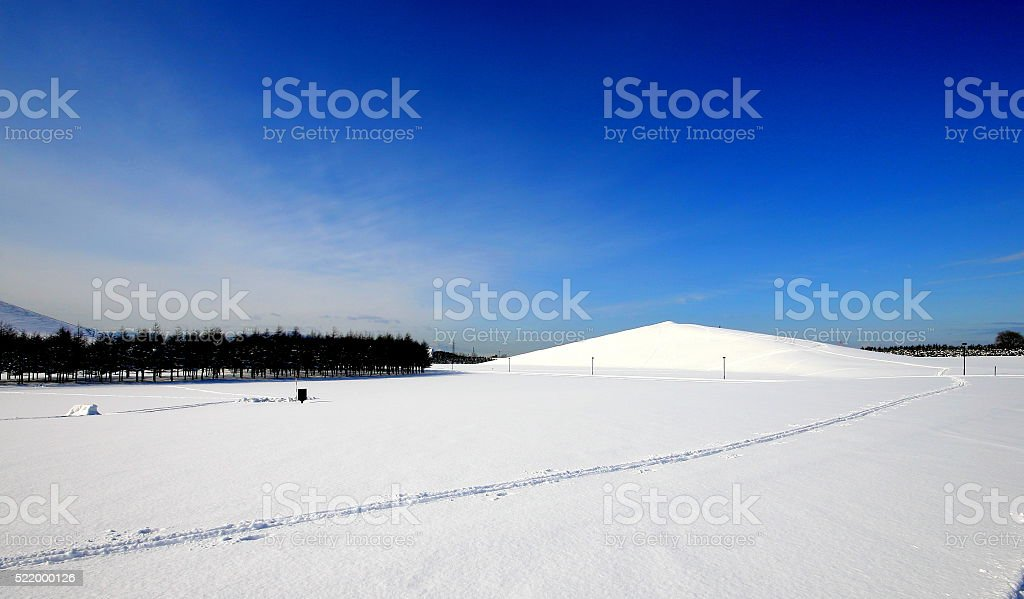 moere park in winter stock photo