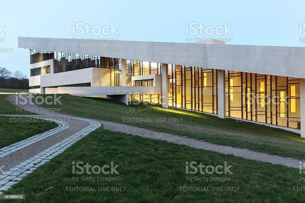 Moesgaard museum in Denmark stock photo