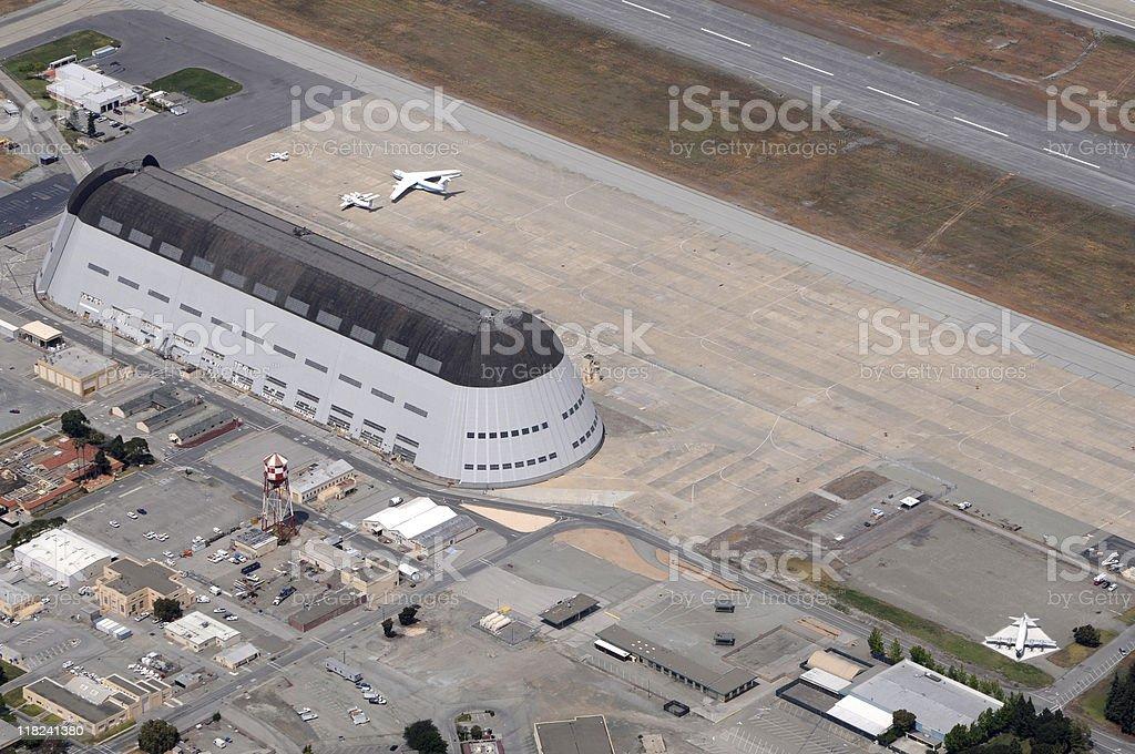 Moffett Field, California, hangar 1 stock photo