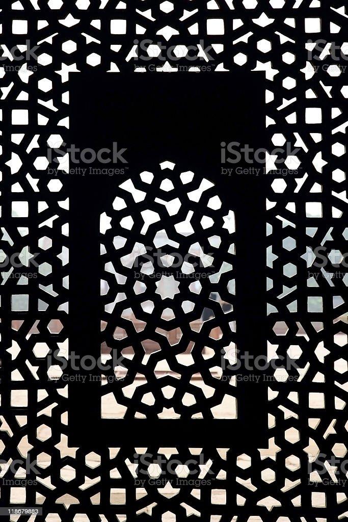 moghul thomb window pattern royalty-free stock photo
