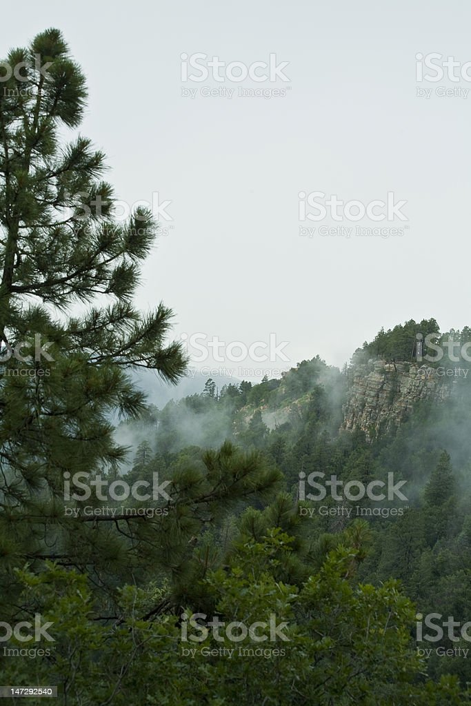 Mogollon Rim in Rain stock photo