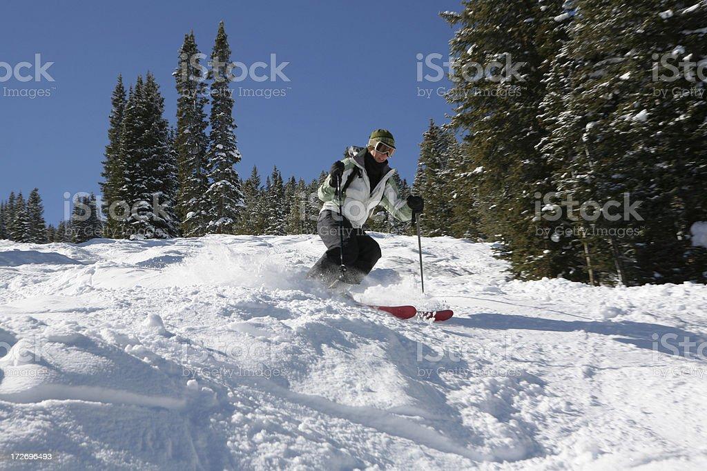 mogul skier royalty-free stock photo