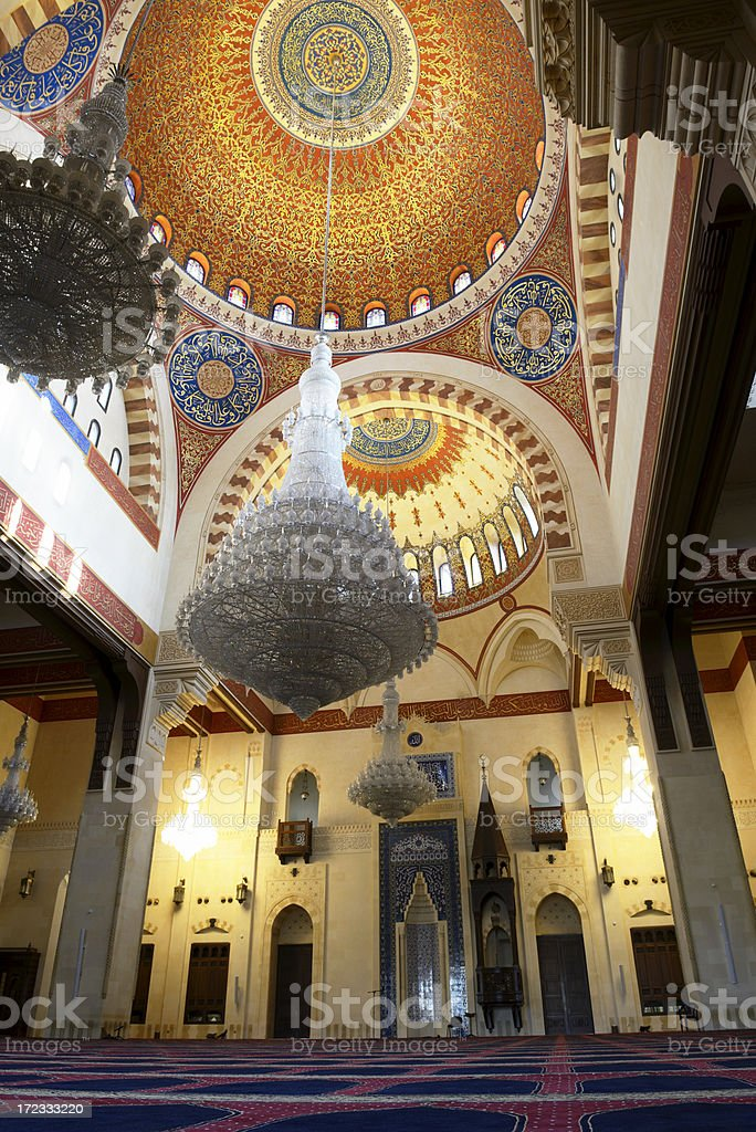 Mohamed Al-Amin mosque, Beirut, Lebanon royalty-free stock photo
