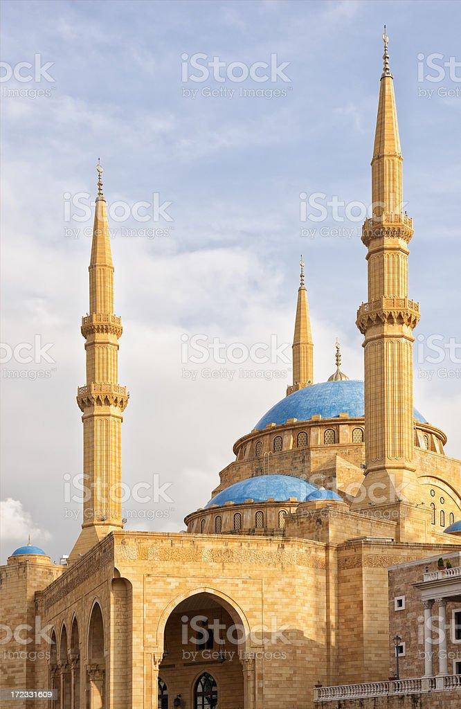 Mohammad Al-Amin Mosque, Beirut, Lebanon royalty-free stock photo