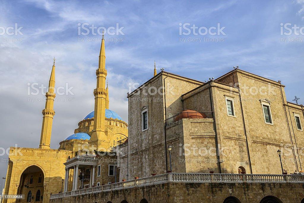 Mohammad Al-Amin Mosque royalty-free stock photo