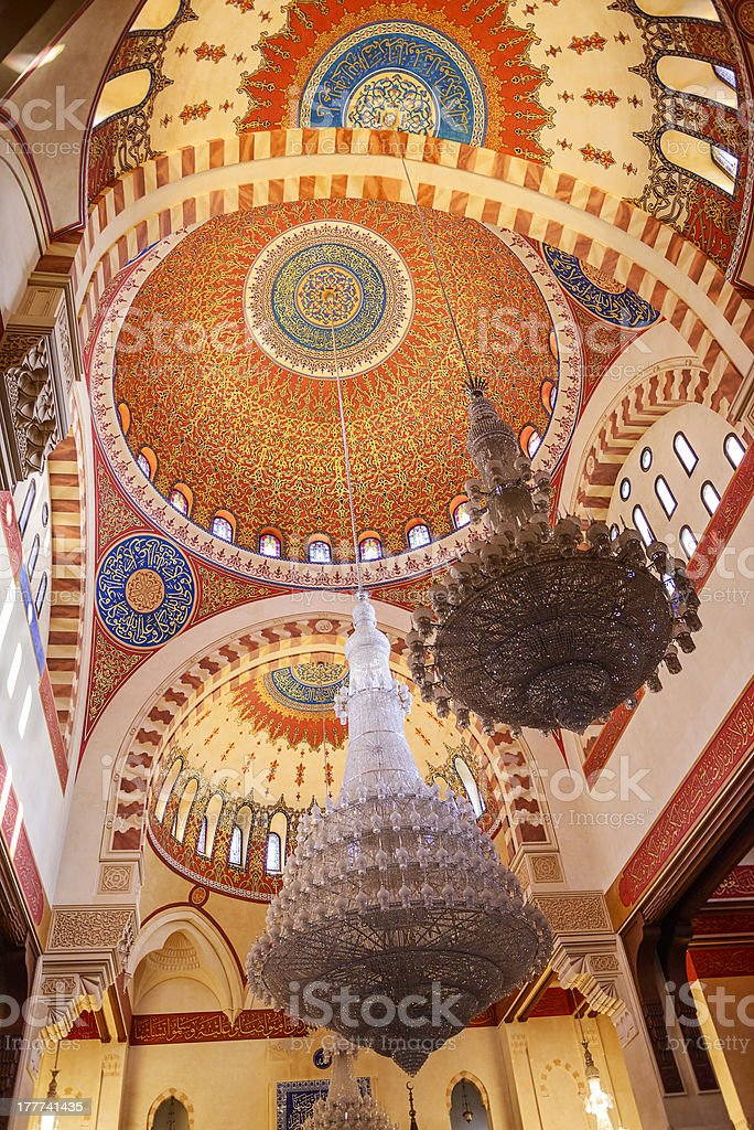 Mohammad Al-Amin Mosque royalty-free stock photo