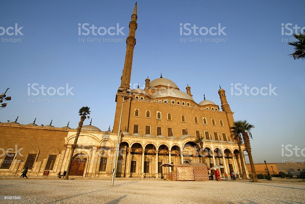 mohammad Ali Mosque in Cairo, Egypt royalty-free stock photo