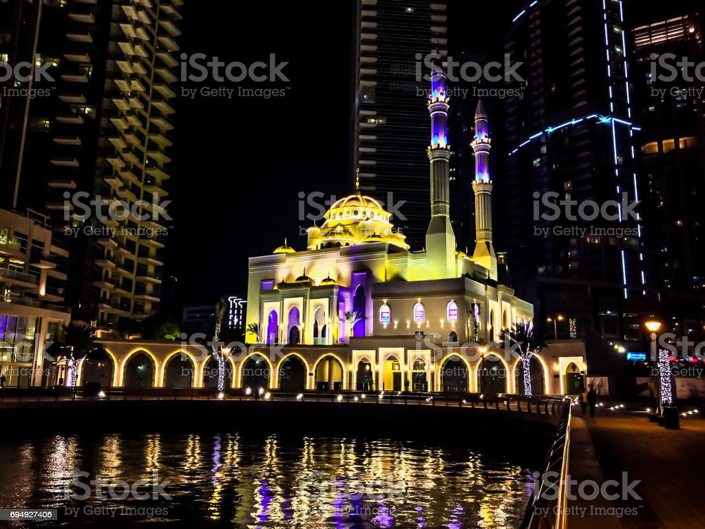 Mohammed Bin Ahmed Almulla Mosque stock photo