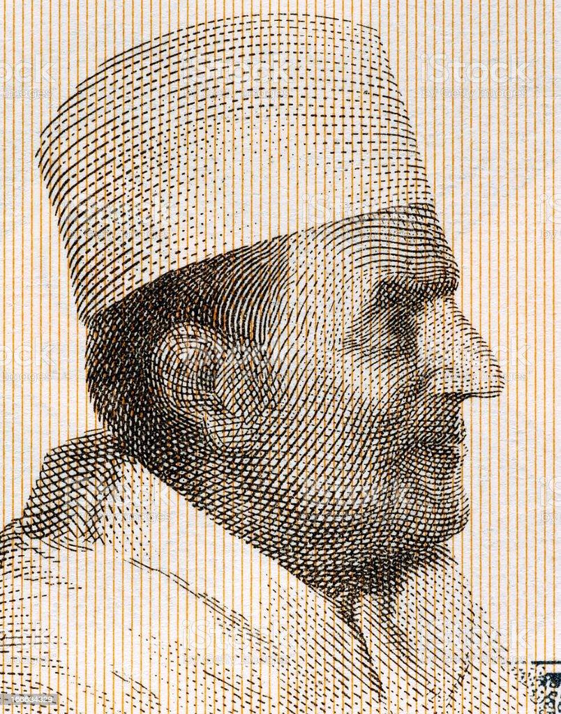 Mohammed V of Morocco royalty-free stock photo