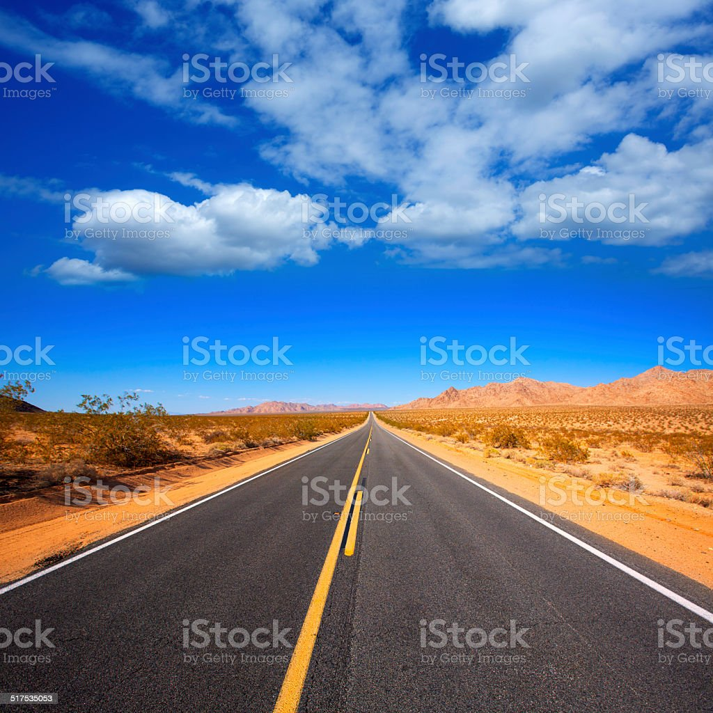 Mohave desert by Route 66 in California USA stock photo