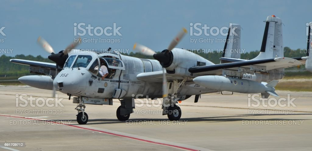 OV-1 Mohawk Attack Plane stock photo