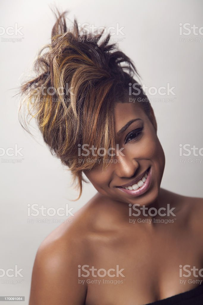 Mohawk hairstyle stock photo