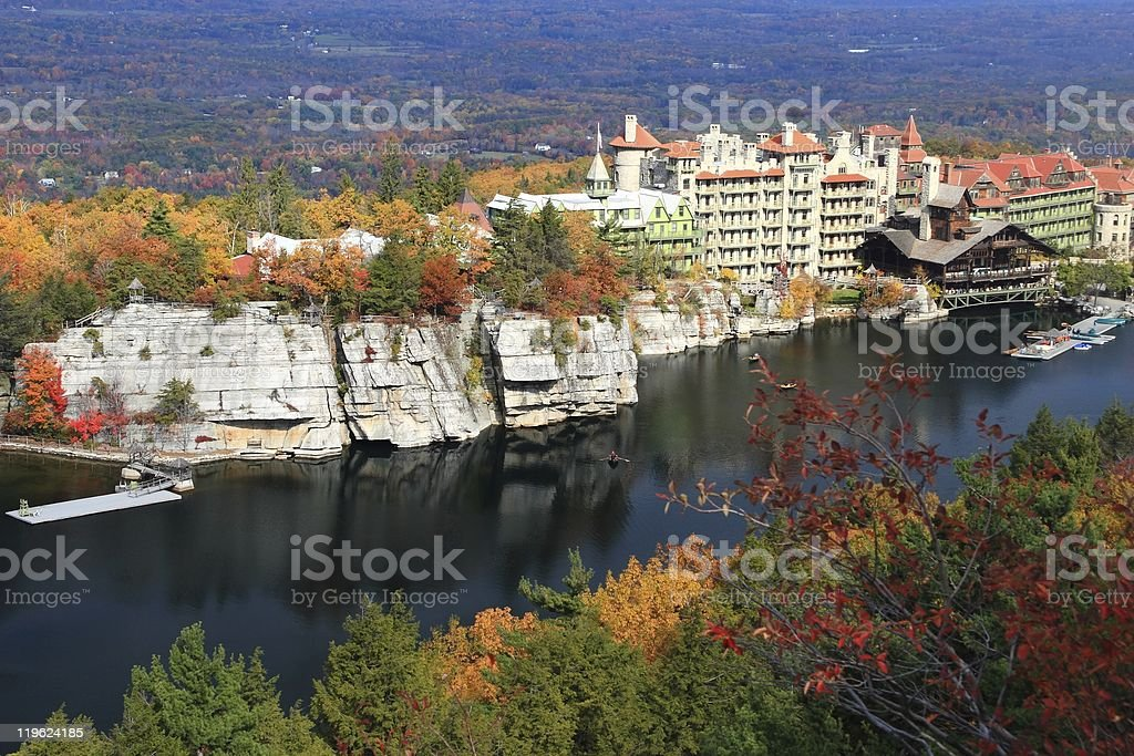 Mohonk Lake and Mountain House royalty-free stock photo