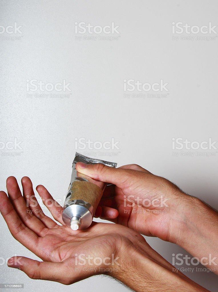 Moisturising stock photo