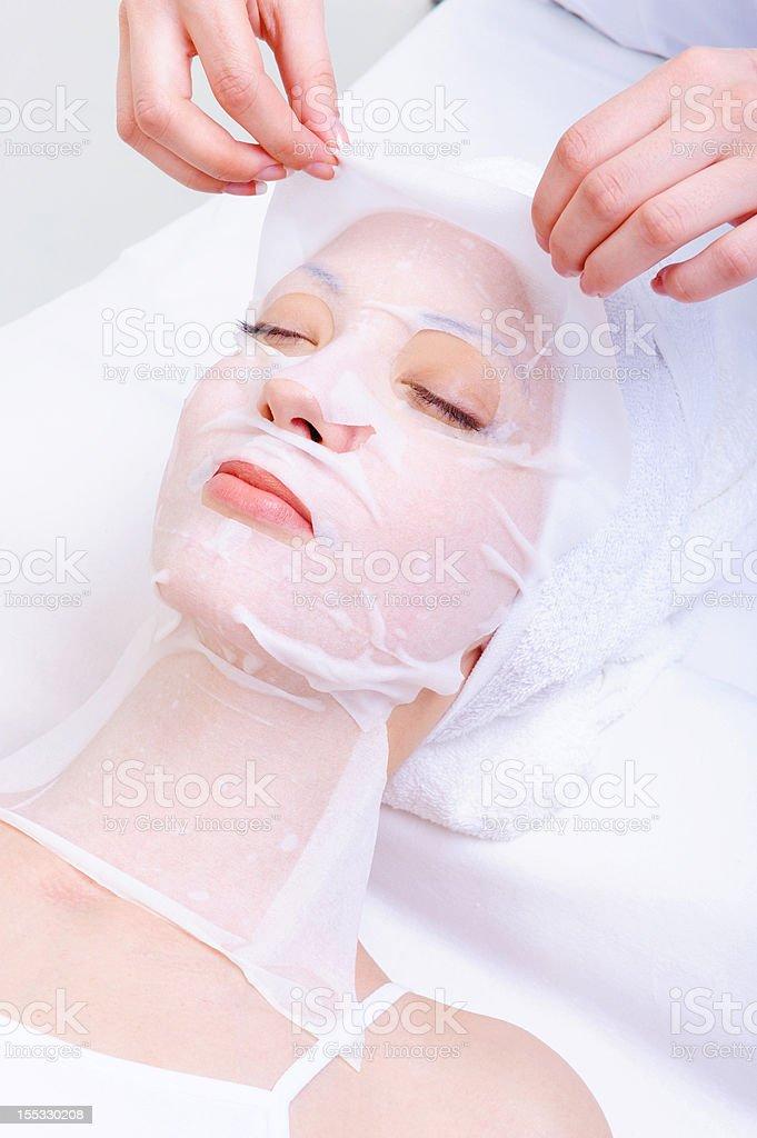 moisturizing cosmetic mask royalty-free stock photo