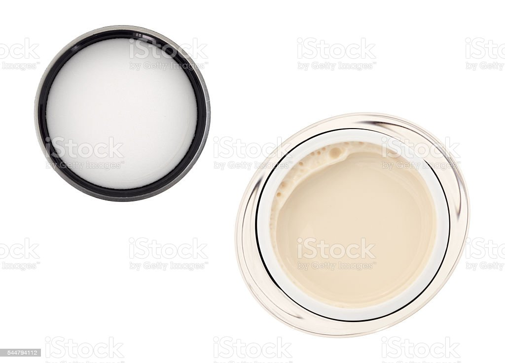 Moisturizing face cream with lid stock photo