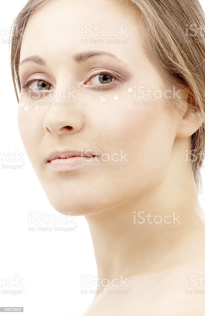 moisturizing milk drops royalty-free stock photo