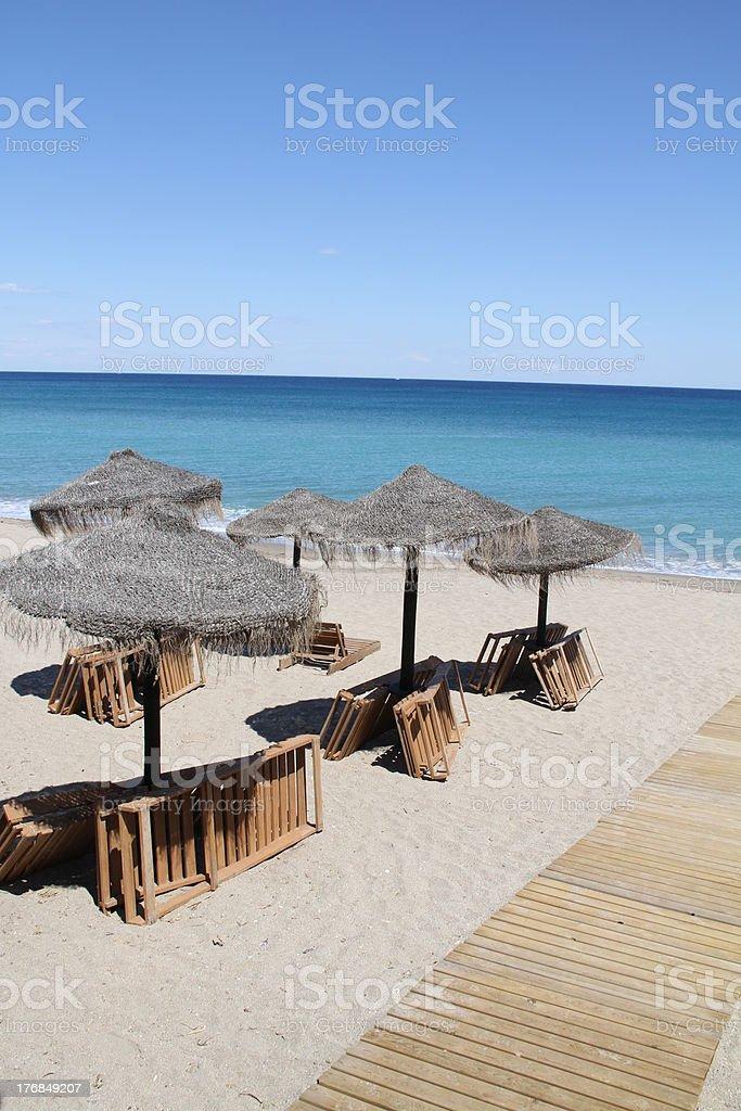 Mojacar beach stock photo