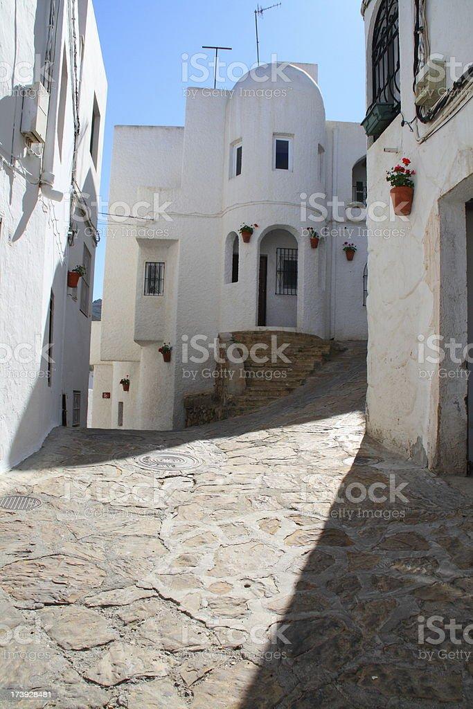 Mojacar street stock photo