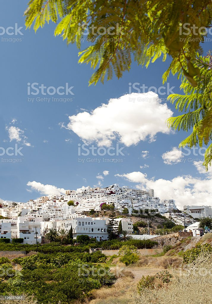 Mojacar Village in the sunshine stock photo