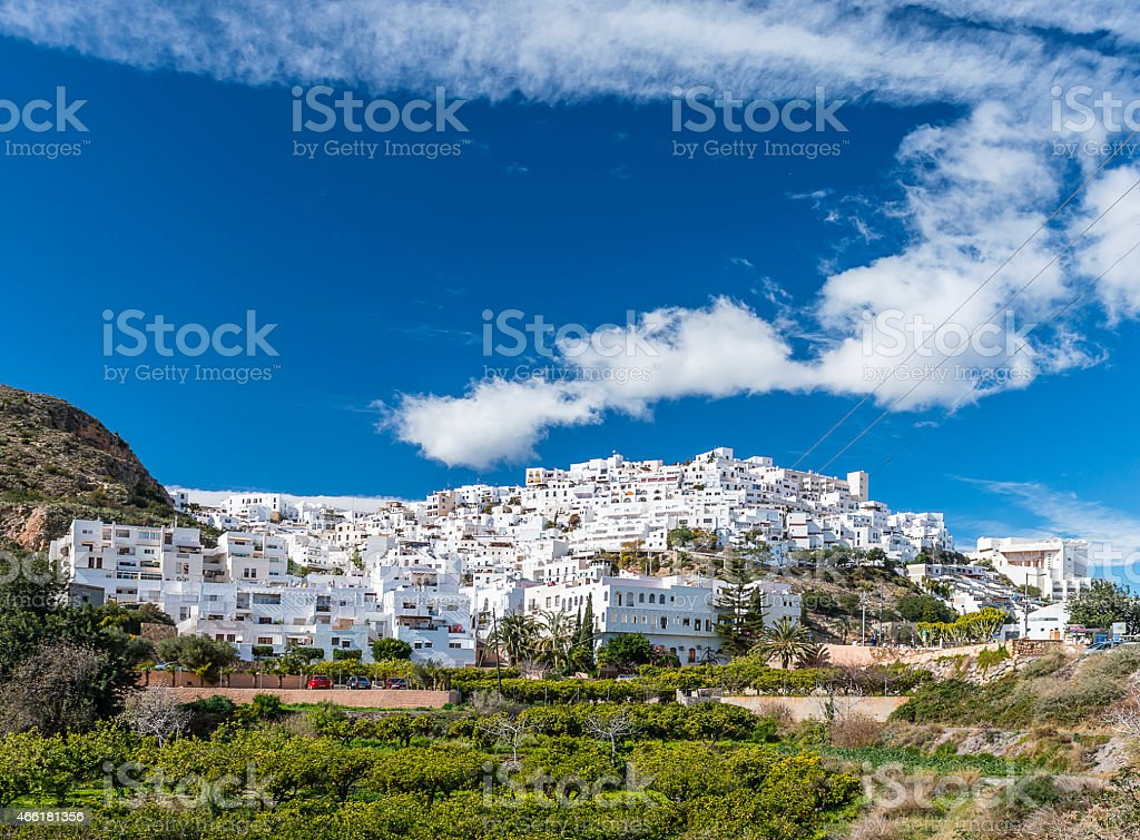Mojacar Village stock photo