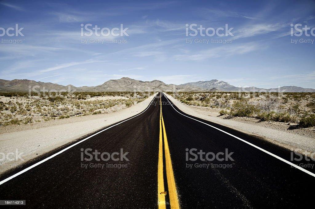 mojave desert highway stock photo