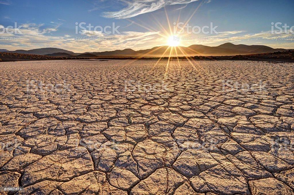 Mojave Desert Sunrise stock photo