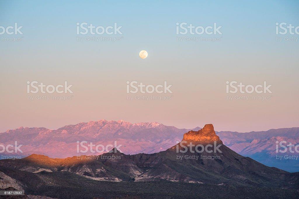 Mojave moon stock photo