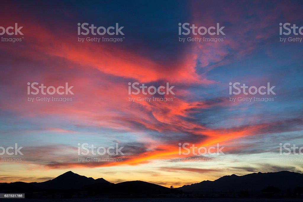 Mojave sky color stock photo