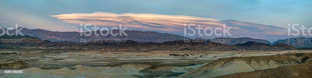 Mojave twilight panorama stock photo