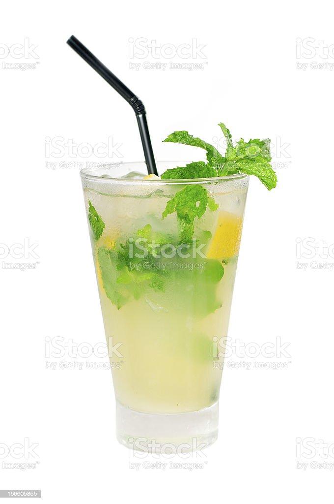 mojito caipirina cocktail with fresh mint leaves royalty-free stock photo