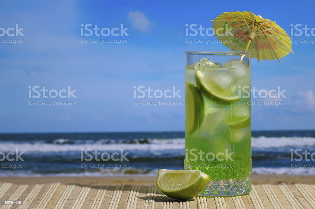 Mojito cocktail against blue sky royalty-free stock photo
