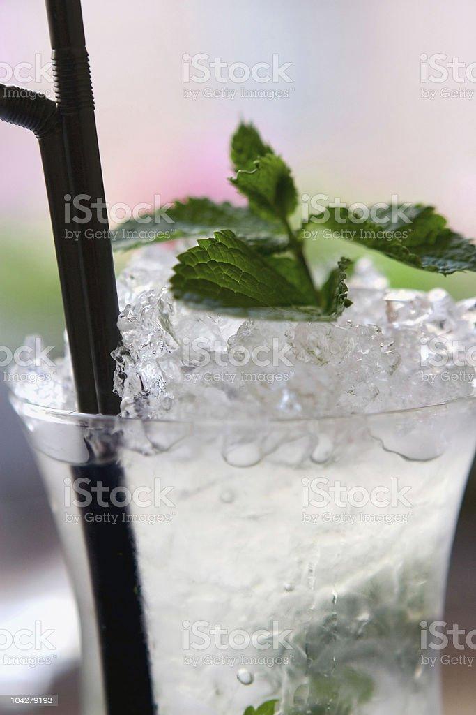 Mojito cocktail Close-up royalty-free stock photo